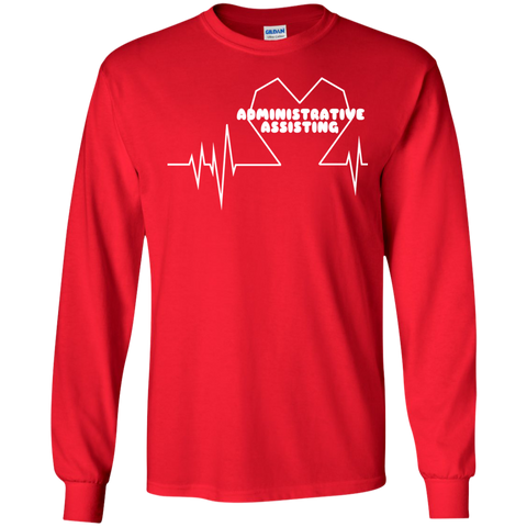 Administrative Assistting Heartbeat Long Sleeve Tees