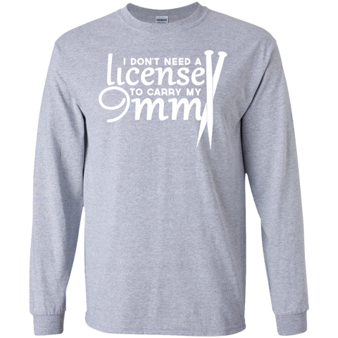 Knitting I Dont Need A License To Carry My 9MM Long Sleeve Tees