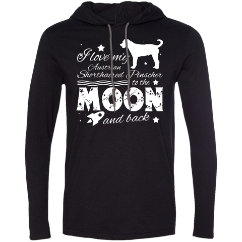 Love My Australian Shorthaired Pinscher To The Moon And Back Tee Shirt Hoodies