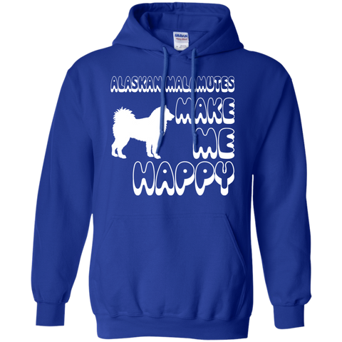 Alaskan Malamutes Make Me Happy Hoodies