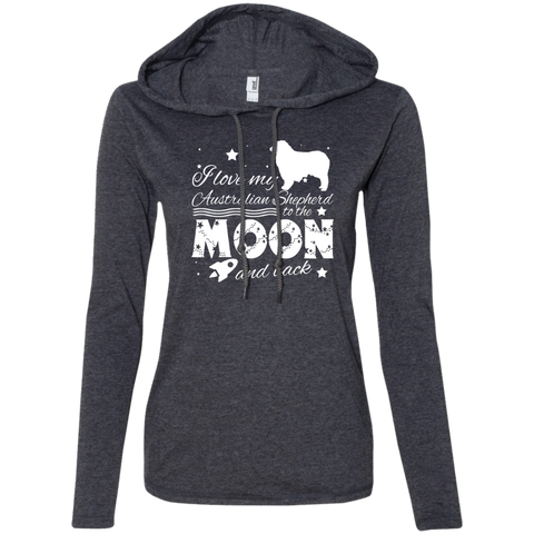 Love My Australian Shepherd To The Moon And Back Ladies Tee Shirt Hoodies
