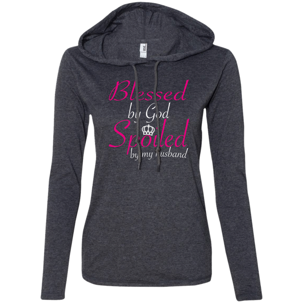 Blessed By God Spoiled By My Husband Ladies Tee Shirt Hoodies