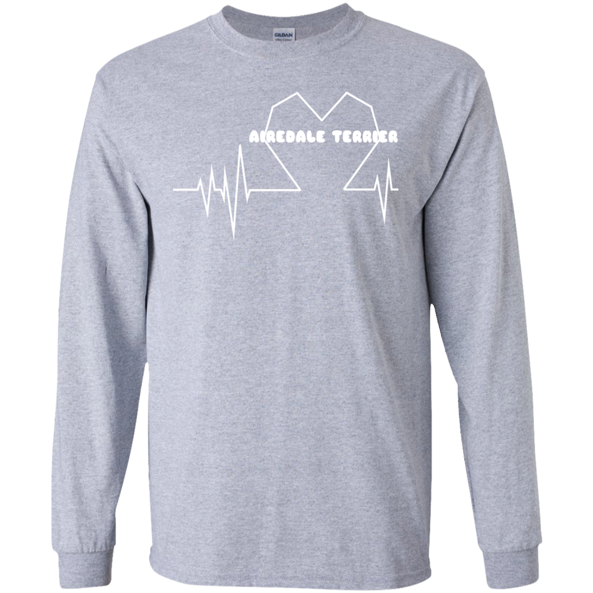 Airedale Terrier Heartbeat Long Sleeve Tees