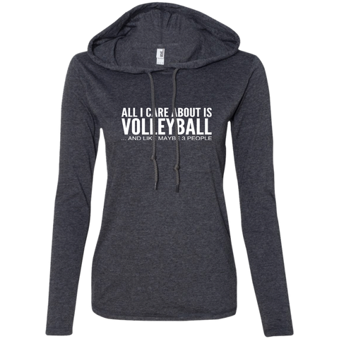 All I Care About Is Volleyball And Like Maybe 3 People Ladies Tee Shirt Hoodies