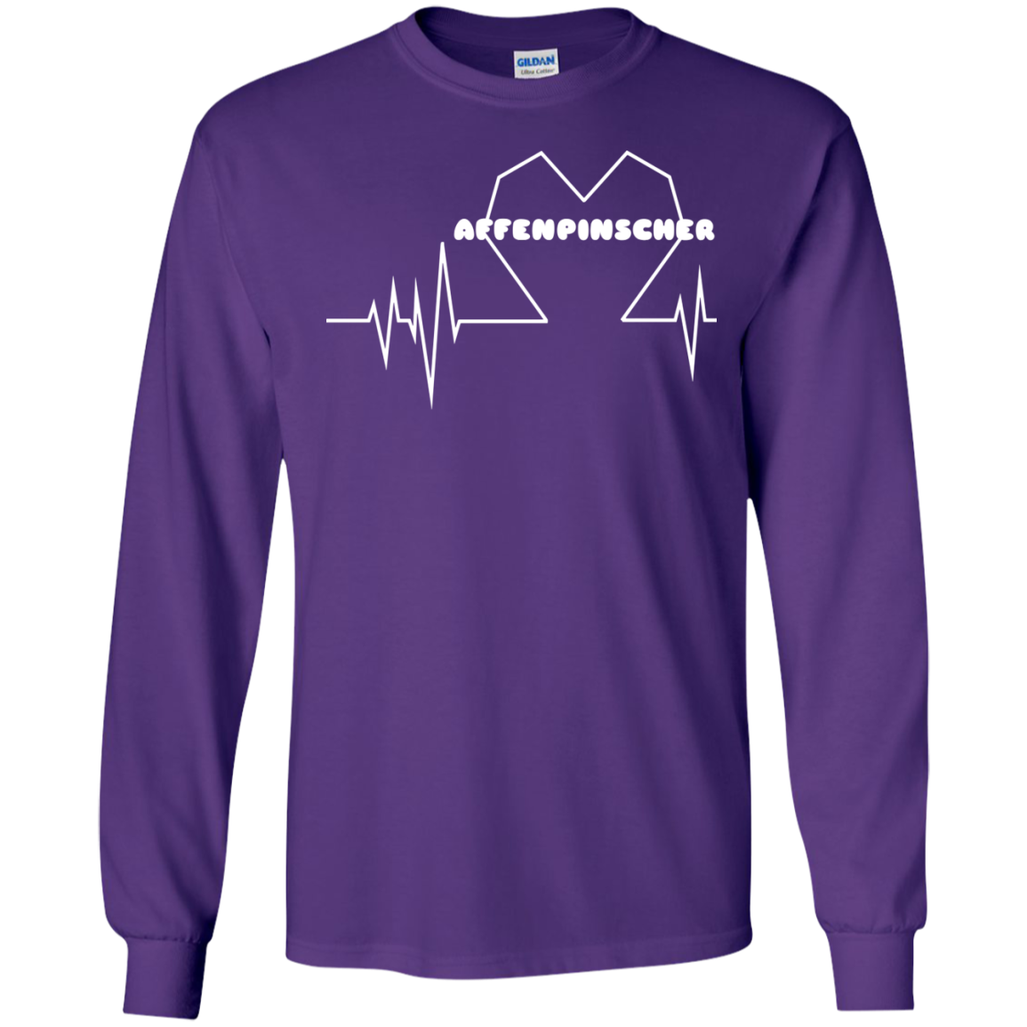 Affenpinscher Heartbeat Long Sleeve Tees
