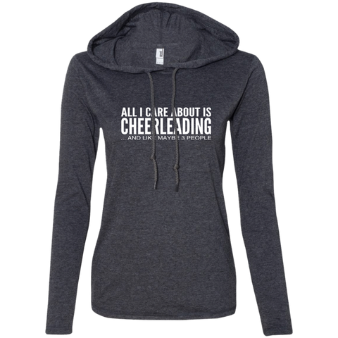 All I Care About Is Cheerleading And Like Maybe 3 People Ladies Tee Shirt Hoodies