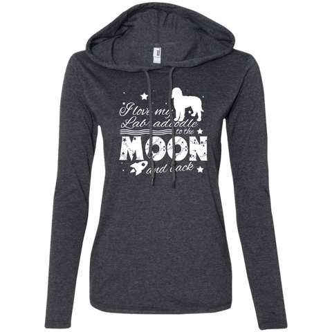 Love My Labradoodle To The Moon And Back Ladies Tee Shirt Hoodies