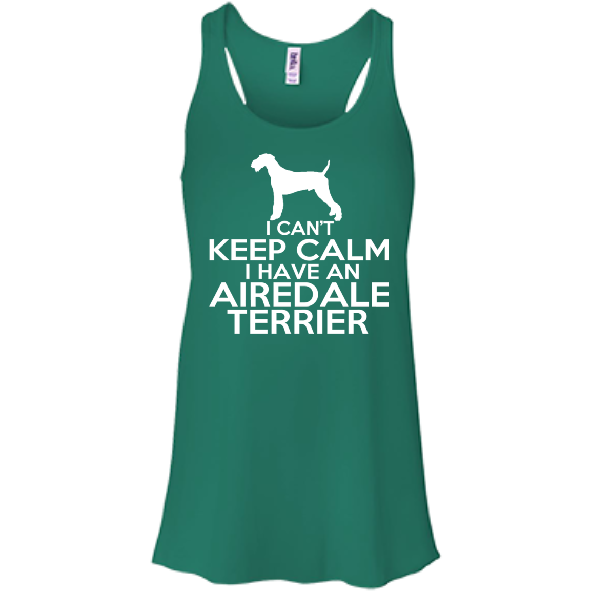I Cant Keep Calm I Have An Airedale Terrier Flowy Racerback Tanks