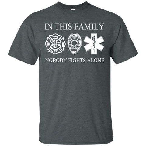 In This Family Nobody Fights Alone Tee Sale
