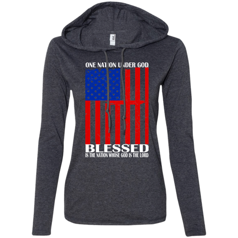 One Nation Under God Blessed Is The Nation Whose God Is The Lord Ladies Tee Shirt Hoodies