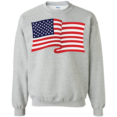 USA Flag In The Wind Show Your Pride Sweatshirts