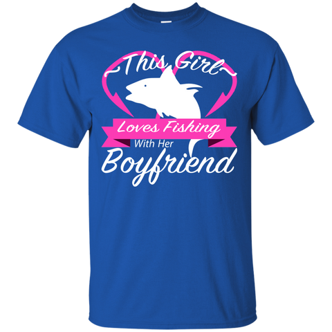 This Girl Loves Fishing With Her Boyfriend Tee