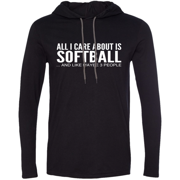 All I Care About Is Softball And Like Maybe 3 People Tee Shirt Hoodies