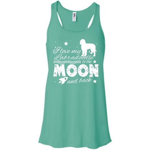 Love My Labradoodle To The Moon And Back Flowy Racerback Tanks