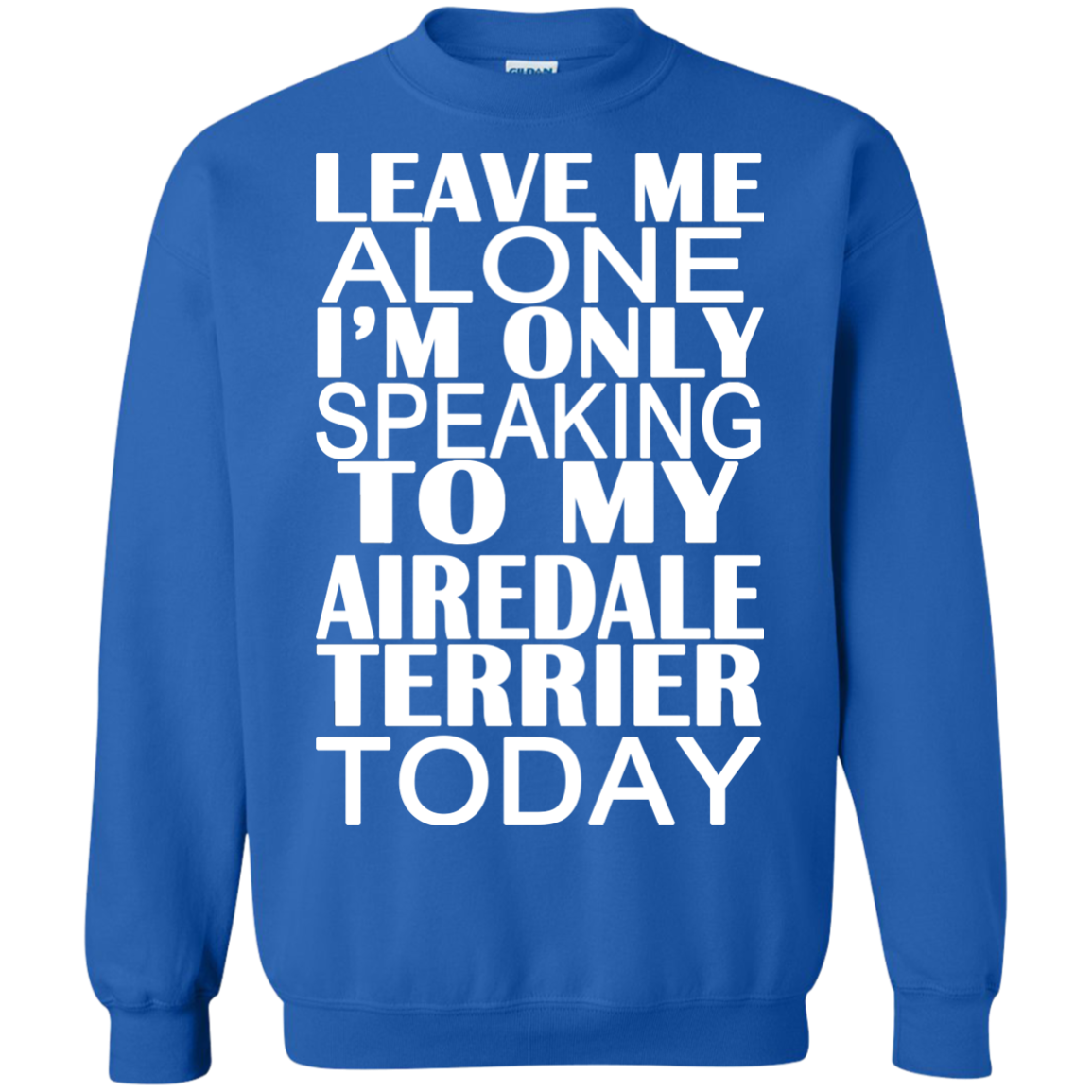 Leave Me Alone Im Only Speaking To My Airedale Terrier Today Sweatshirts
