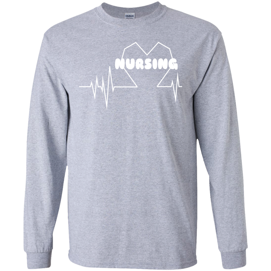Nursing Heartbeat Long Sleeve Tees