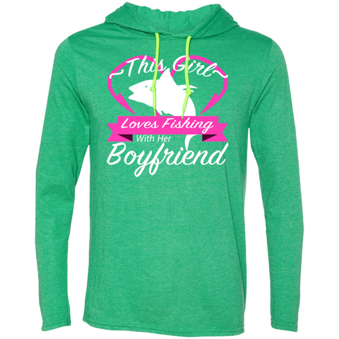 This Girl Loves Fishing With Her Boyfriend Tee Shirt Hoodies