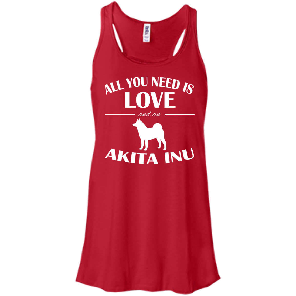 All You Need Is Love And An Akita Inu Flowy Racerback Tanks