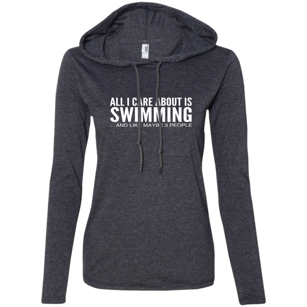 All I Care About Is Swimming And Like Maybe 3 People Ladies Tee Shirt Hoodies
