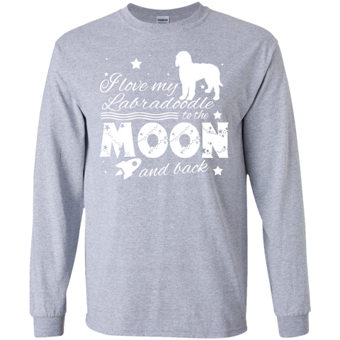 Love My Labradoodle To The Moon And Back Long Sleeve Tees