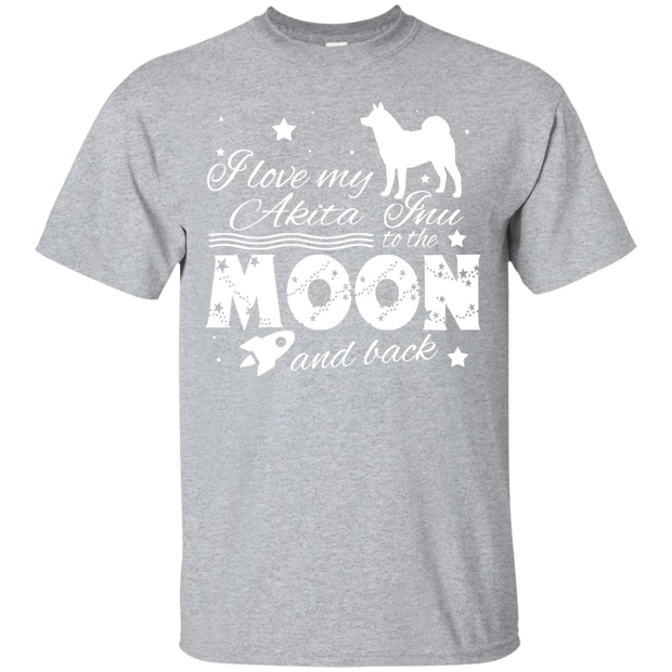 Love My Akita Inu To The Moon And Back Tee