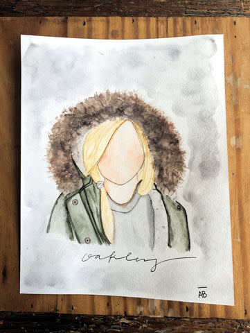 Watercolor Portrait 5x7