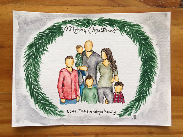 Watercolor Holiday Greeting Card