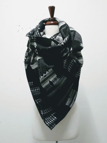 Twisted Blanket Circle Scarf - AW2018BS12