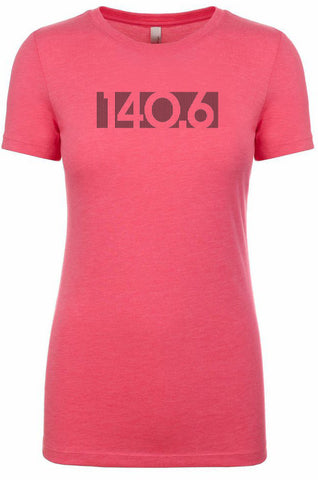 "Woman's short sleeve triathlon tshirt ""140.6 barcode"" by Endurance Apparel"