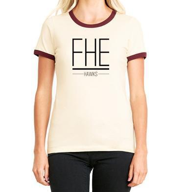FHE HAWKS RINGER TEE for Women