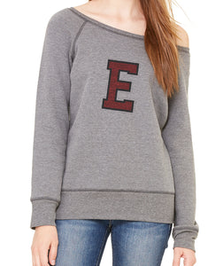Vintage E Bella & Canvas Wide Neck Sweatshirt