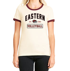 EASTERN VOLLEYBALL Women's Ringer Tee