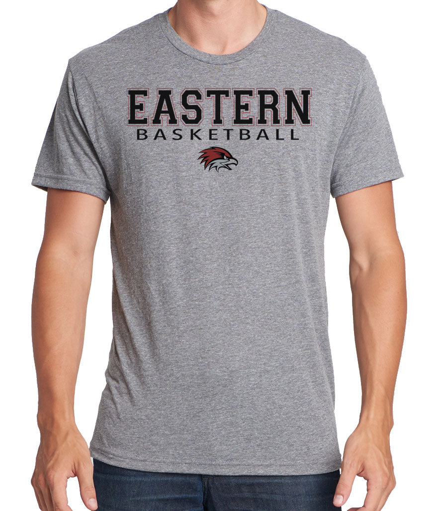 EASTERN BASKETBALL Men's Premium Short Sleeve Tri-Blend