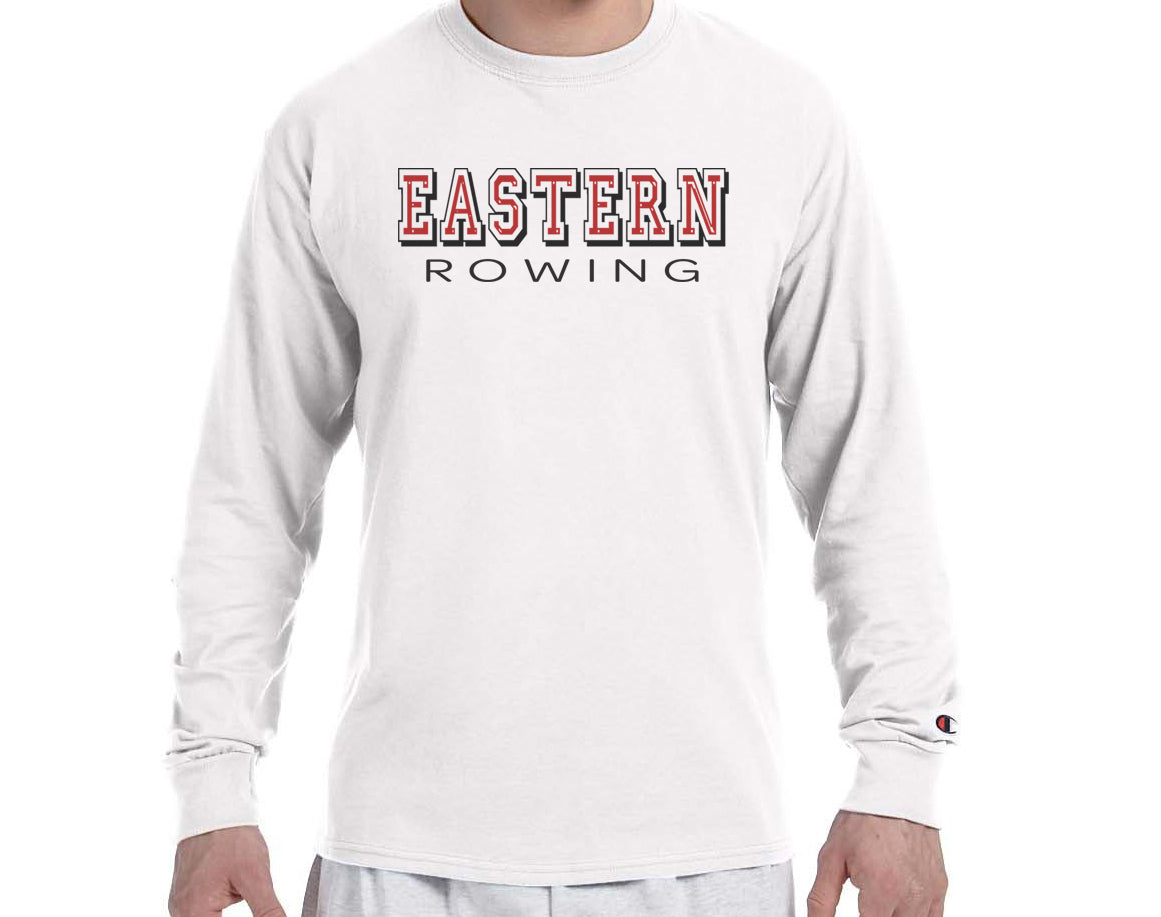 EASTERN ROWING Champion Brand Long Sleeve White