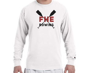 FHE ROWING RED OARS Champion Brand Long Sleeve White