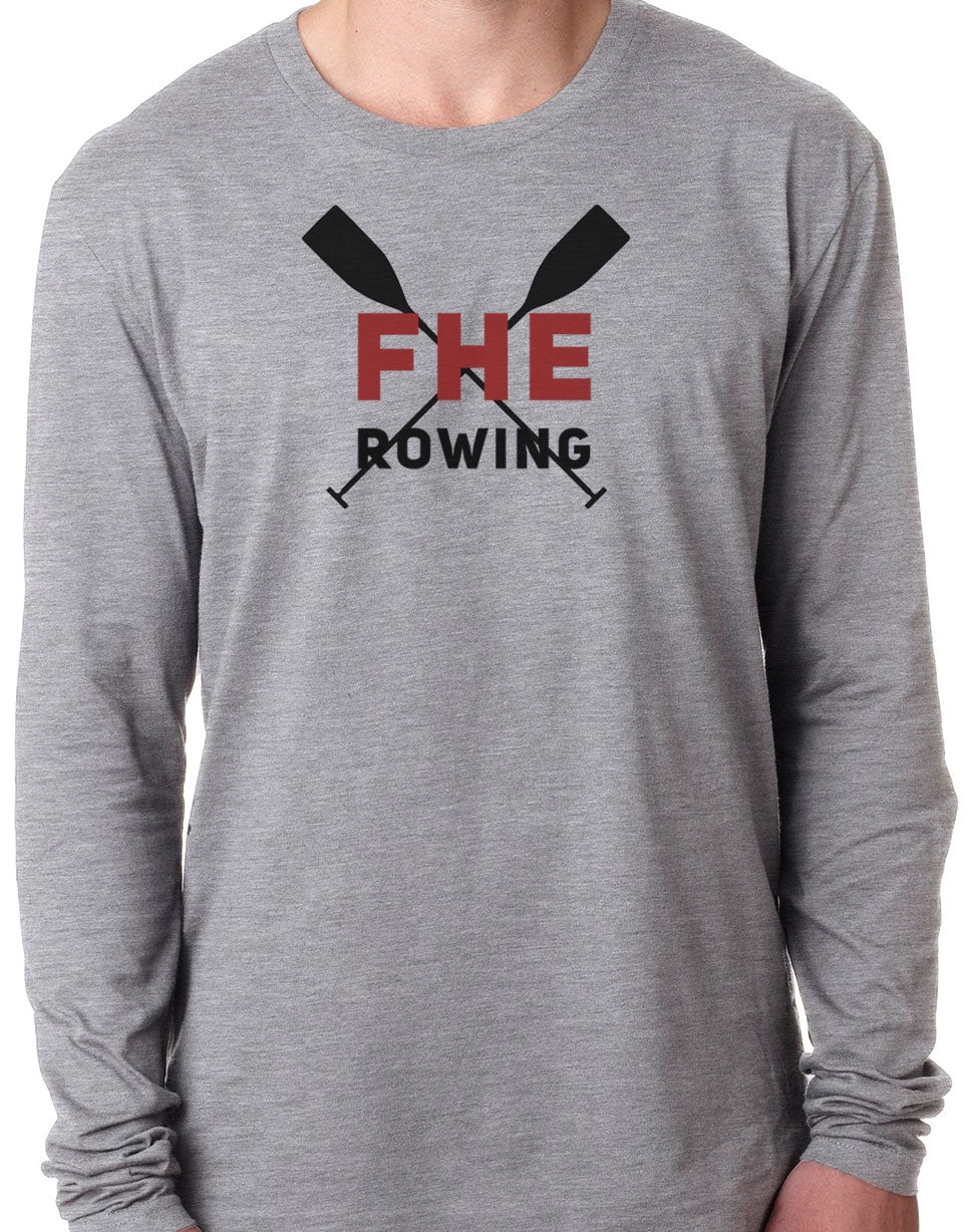 FHE ROWING RED OARS Long Sleeve Unisex Tri-Blend T-Shirt