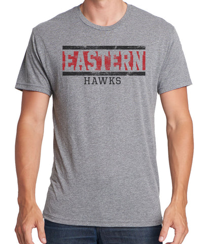 EASTERN HAWKS Men's Tri-Blend Short Sleeve
