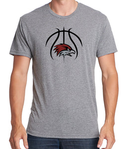 BASKETBALL HAWK HEAD Men's Premium Short Sleeve Tri-Blend