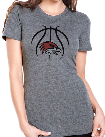BASKETBALL HAWK HEAD Women's Tri-Blend Short Sleeve