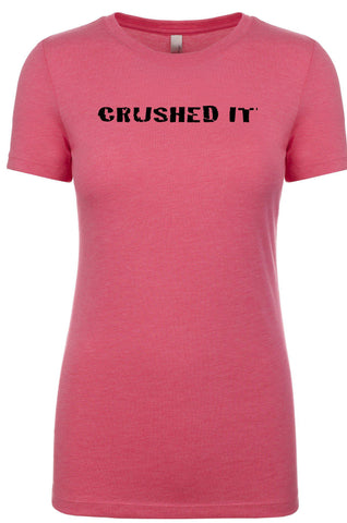 "Women's short sleeve athletic tshirt ""Crushed It"" by Endurance Apparel"