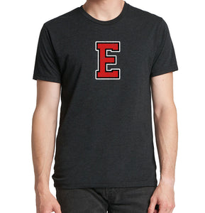 DISTRESSED RED E Men's Tri Blend Short Sleeve