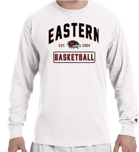 EASTERN BASKETBALL Champion Brand Long Sleeve White