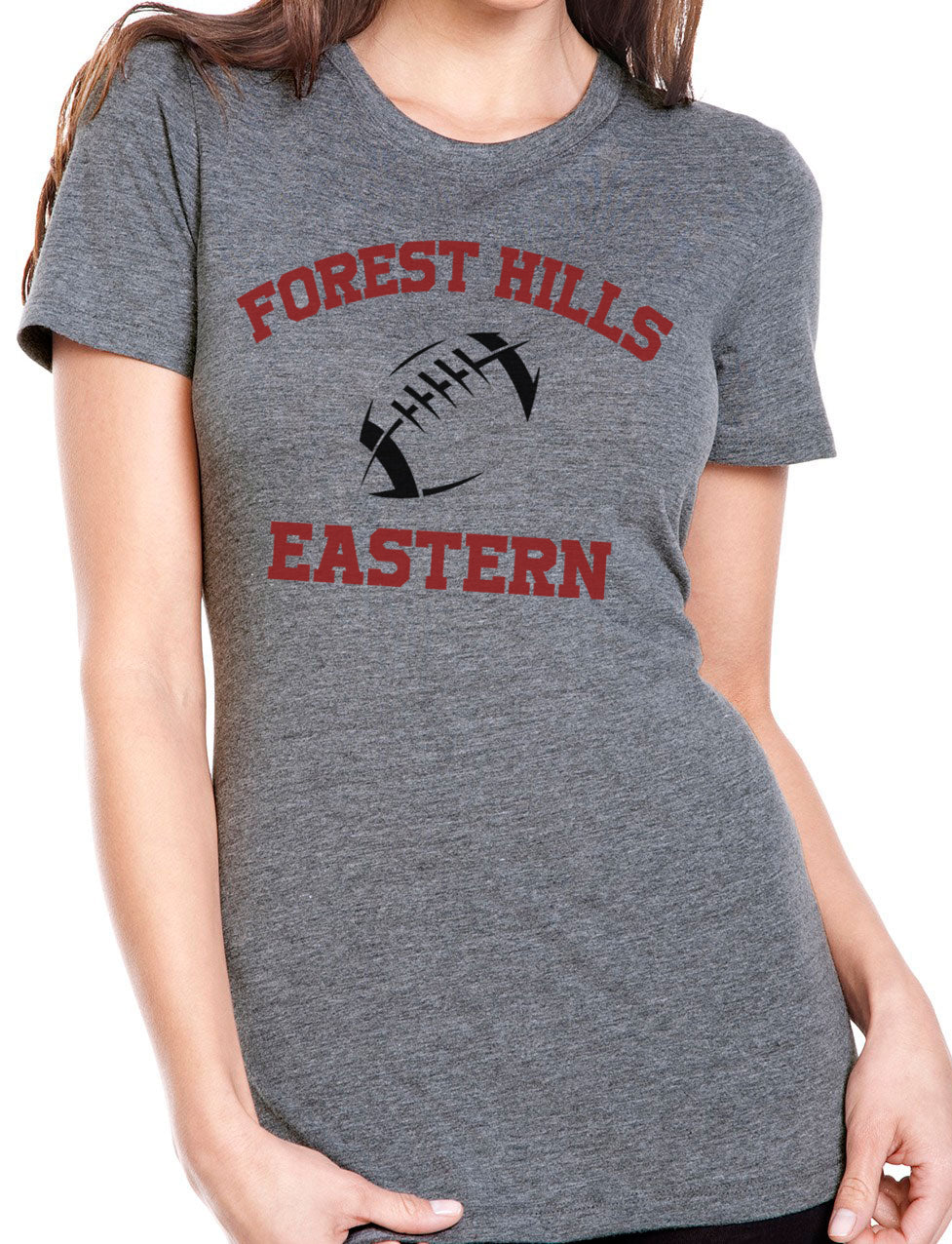 FOREST HILLS EASTERN FOOTBALL Tri-Blend Short Sleeve Tee for Women
