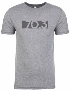"Half Ironman Tshirt For Men ""70.3 bar code"""