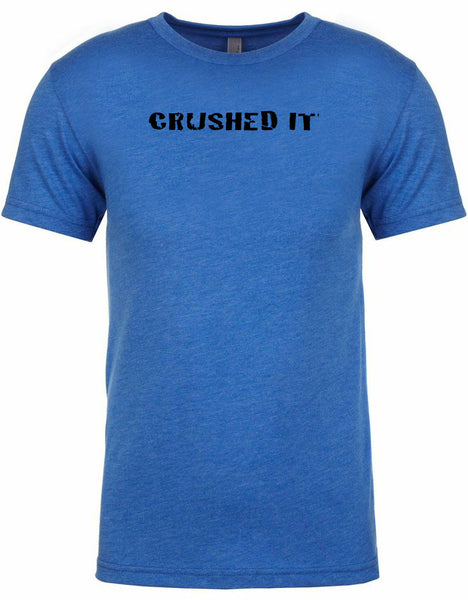 "Men's short sleeve triathlon tshirt ""Crushed It"" by Endurance Apparel"