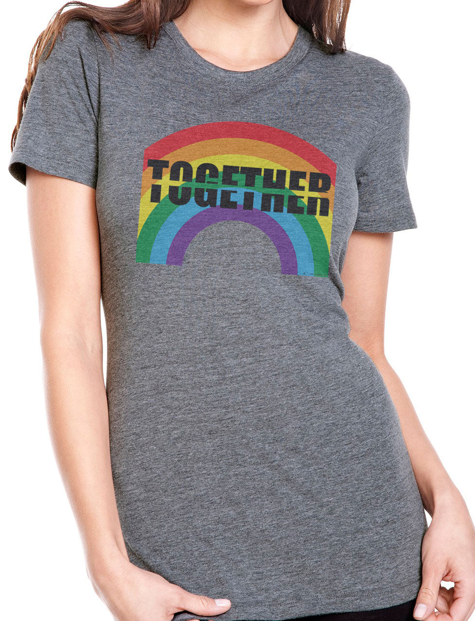 TOGETHER-APART Rainbow Grey Men's, Women's and Youth Styles. PROFITS GO TO AMERICAN RED CROSS