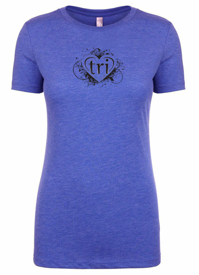 "Women's short sleeve triathlon tshirt ""heart tri"" by Endurance Apparel"