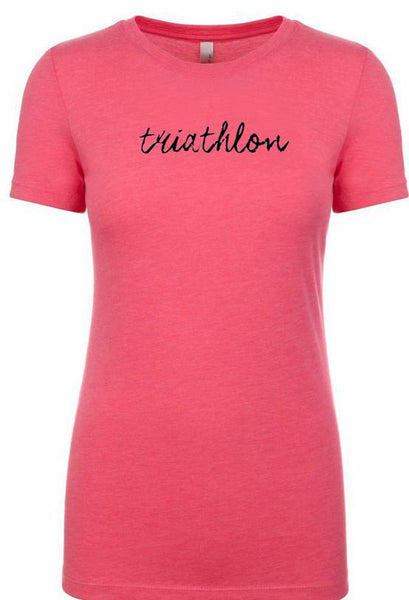 "Women's Triathlon short sleeve tshirt ""triathlon"""