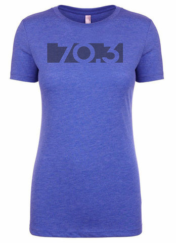 "Woman's short sleeve triathlon tshirt ""70.3"" by Endurance Apparel"