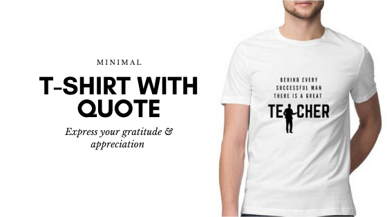 T shirt gift for teacher